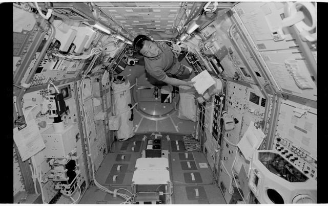 STS065-318-001 - STS-065 - Various views of the STS-65 crew in the Spacelab