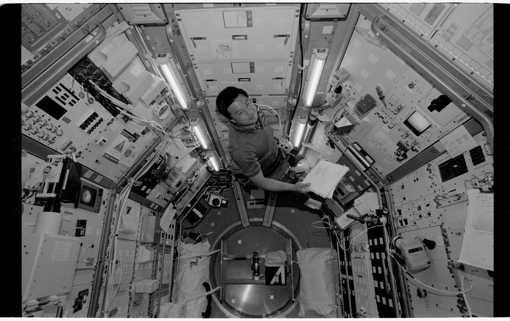 STS065-318-002 - STS-065 - Various views of the STS-65 crew in the Spacelab