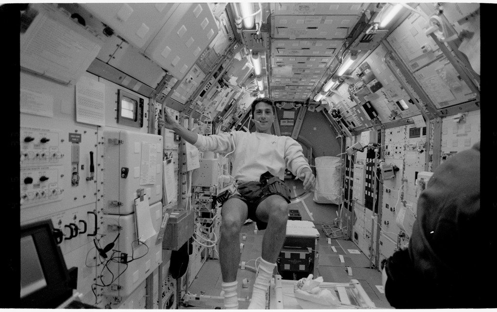 STS065-318-011 - STS-065 - Various views of the STS-65 crew in the Spacelab