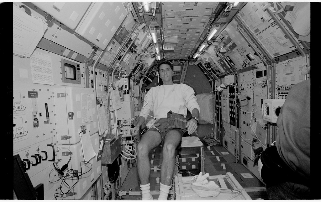 STS065-318-012 - STS-065 - Various views of the STS-65 crew in the Spacelab