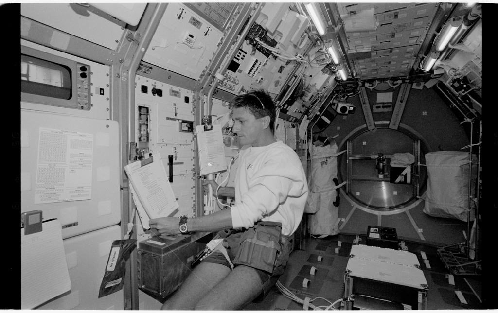 STS065-318-013 - STS-065 - Various views of the STS-65 crew in the Spacelab