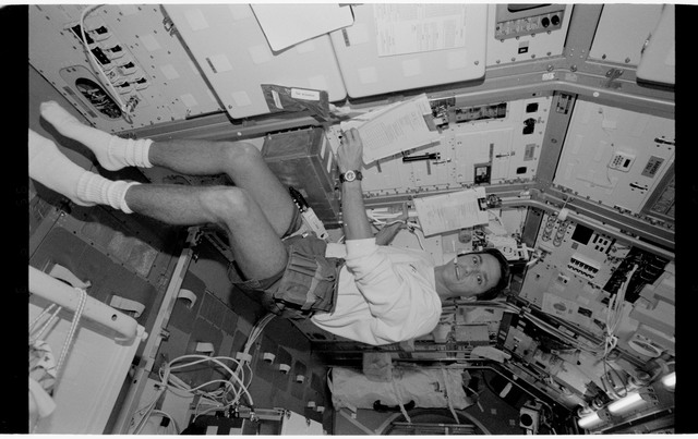 STS065-318-014 - STS-065 - Various views of the STS-65 crew in the Spacelab