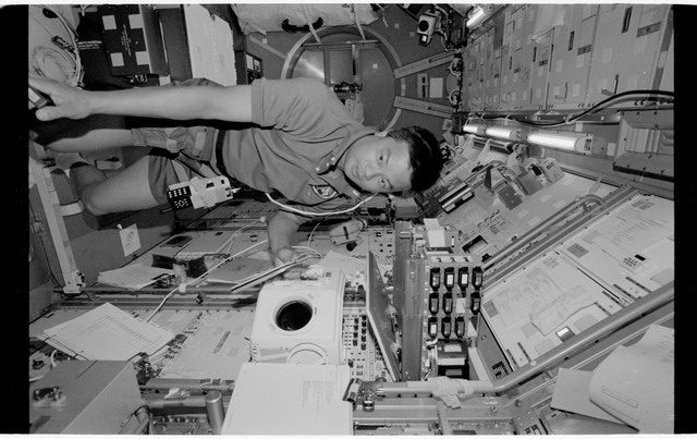 STS065-318-016 - STS-065 - Various views of the STS-65 crew in the Spacelab