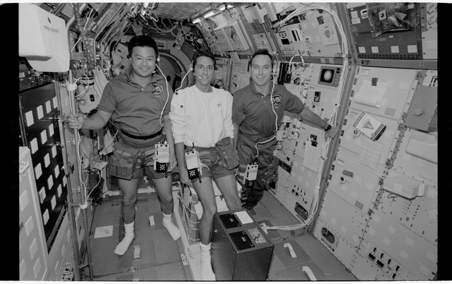 STS065-318-020 - STS-065 - Various views of the STS-65 crew in the Spacelab