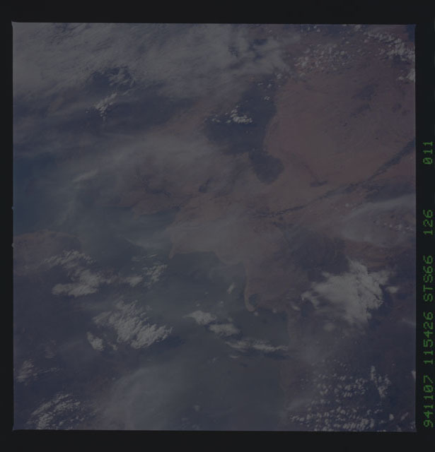 STS066-126-011 - STS-066 - Earth observations during STS-66