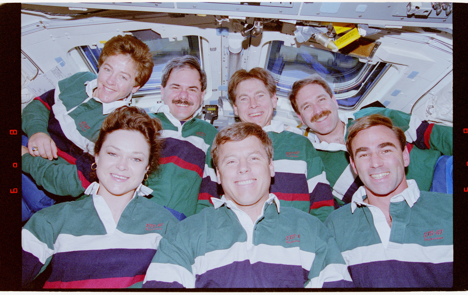 STS067-322-013 - STS-067 - STS-67 crew inflight portraits