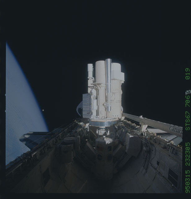 STS067-706B-019 - STS-067 - ASTRO-2 payload in cargo bay of STS-67 Endeavour
