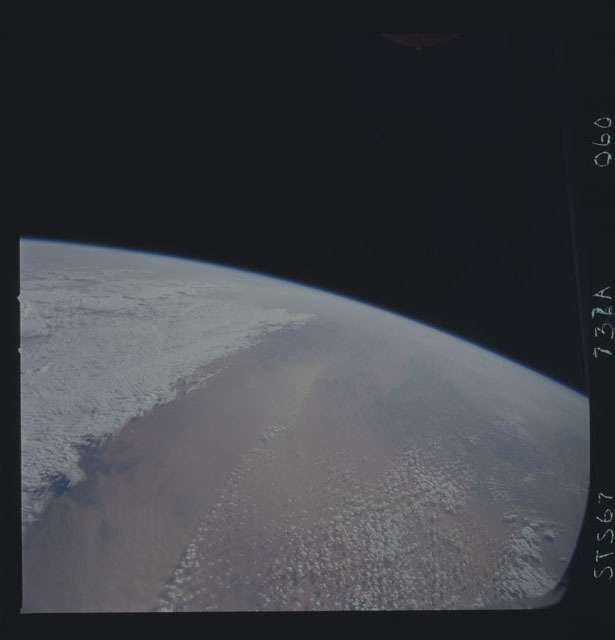 STS067-732A-060 - STS-067 - Earth observations taken from shuttle orbiter Endeavour during STS-67 mission