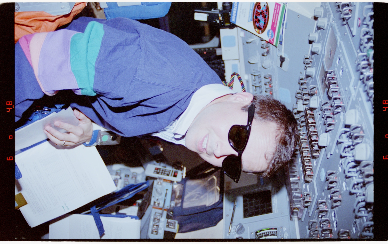 STS068-41-012 - STS-068 - STS-68 crew on orbiter flight deck
