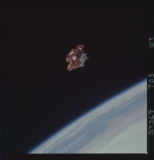 STS069-703-000T - STS-069 - View of the deployment of the SPARTAN 218