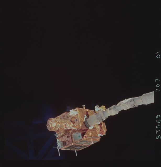 STS069-707-001 - STS-069 - View of SPARTAN 201 during STS-69 mission