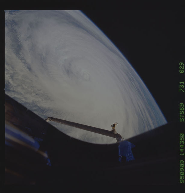 STS069-731-029 - STS-069 - Hurricane Luis as seen during STS-69