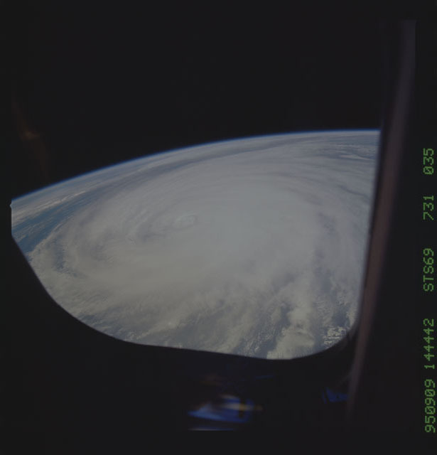STS069-731-035 - STS-069 - Hurricane Luis as seen during STS-69