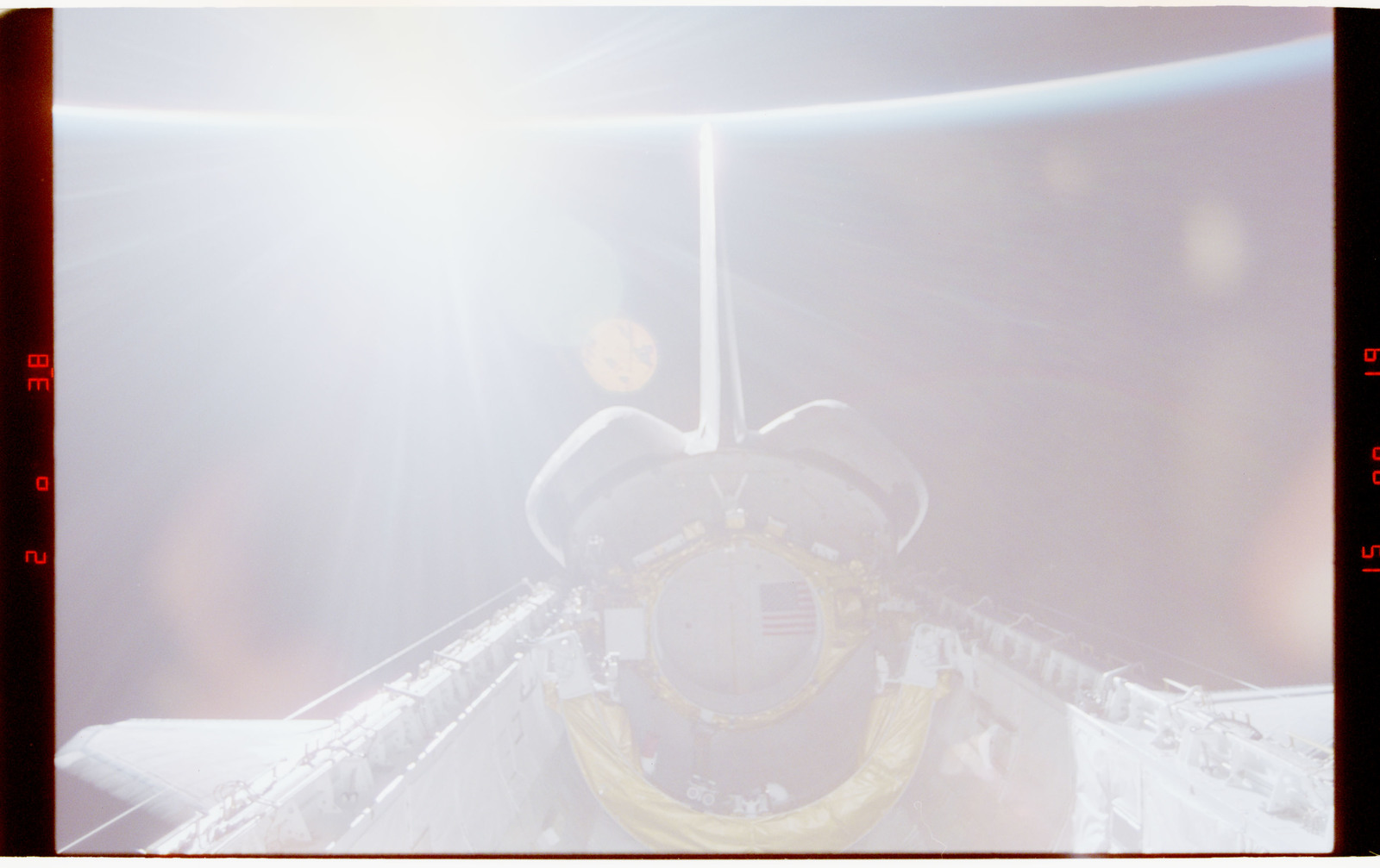 STS070-347-028 - STS-070 - View of empty payload bay after deploy of TDRS satellite