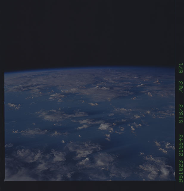 STS073-703-071 - STS-073 - Earth observations taken from shuttle orbiter Columbia