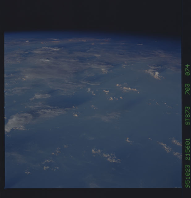 STS073-703-074 - STS-073 - Earth observations taken from shuttle orbiter Columbia