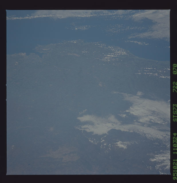 STS073-722-070 - STS-073 - Earth observations taken from shuttle orbiter Columbia