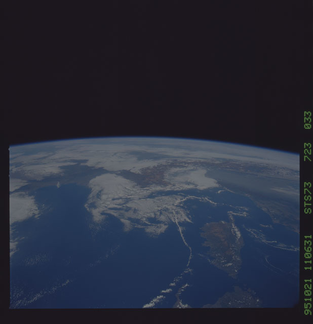 STS073-723-033 - STS-073 - Earth observations taken from shuttle orbiter Columbia