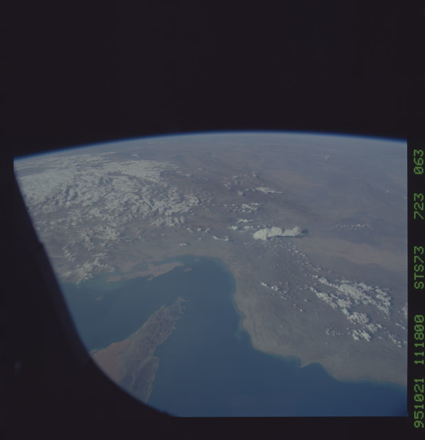 STS073-723-063 - STS-073 - Earth observations taken from shuttle orbiter Columbia