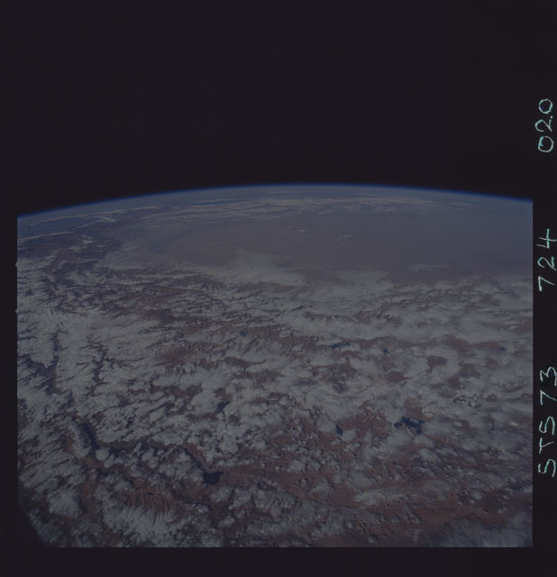 STS073-724-020 - STS-073 - Earth observations taken from shuttle orbiter Columbia