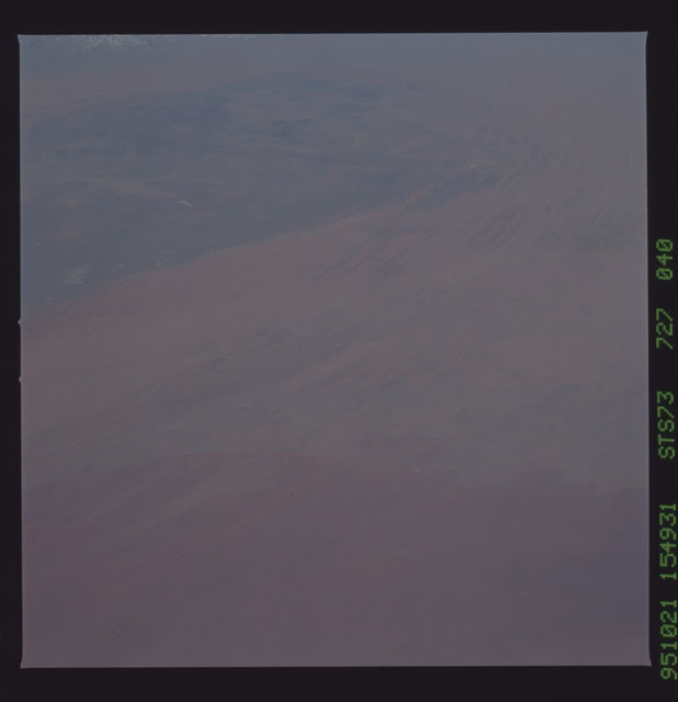 STS073-727-040 - STS-073 - Earth observations taken from shuttle orbiter Columbia