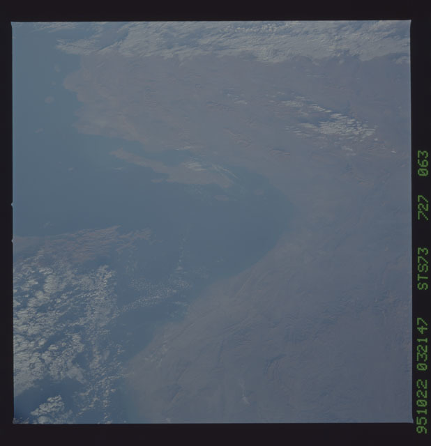 STS073-727-063 - STS-073 - Earth observations taken from shuttle orbiter Columbia