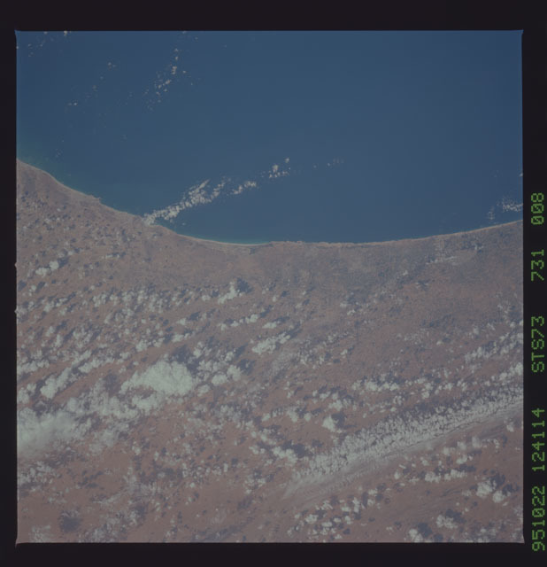 STS073-731-008 - STS-073 - Earth observations taken from shuttle orbiter Columbia