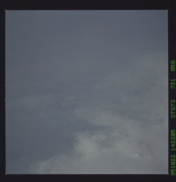 STS073-731-058 - STS-073 - Earth observations taken from shuttle orbiter Columbia
