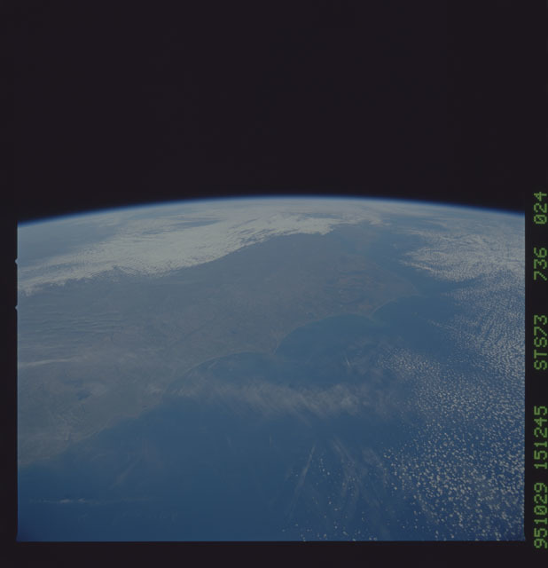 STS073-736-024 - STS-073 - Earth observations taken from shuttle orbiter Columbia