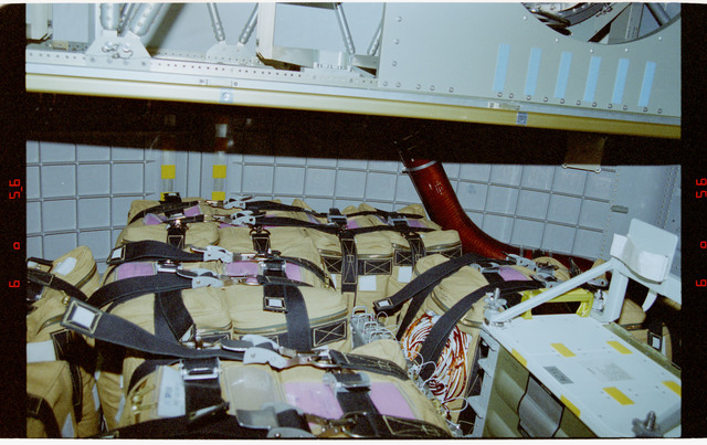 STS076-315-014 - STS-076 - Documentation of stowage configuration in Spacehab just prior to closing hatches