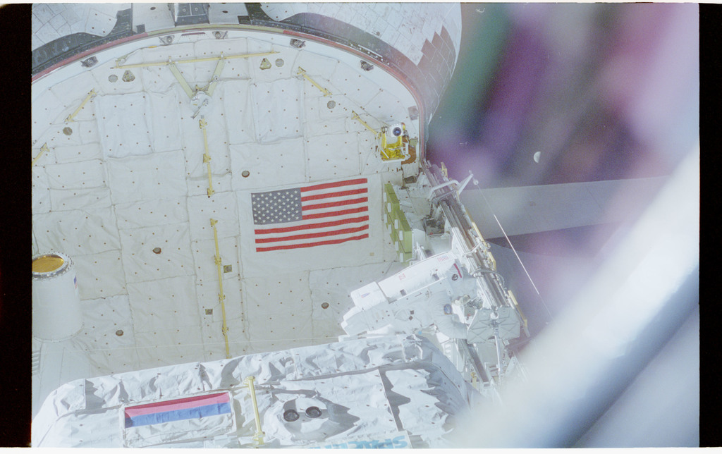 STS076-462-006 - STS-076 - View of the shuttle payload bay during EVA