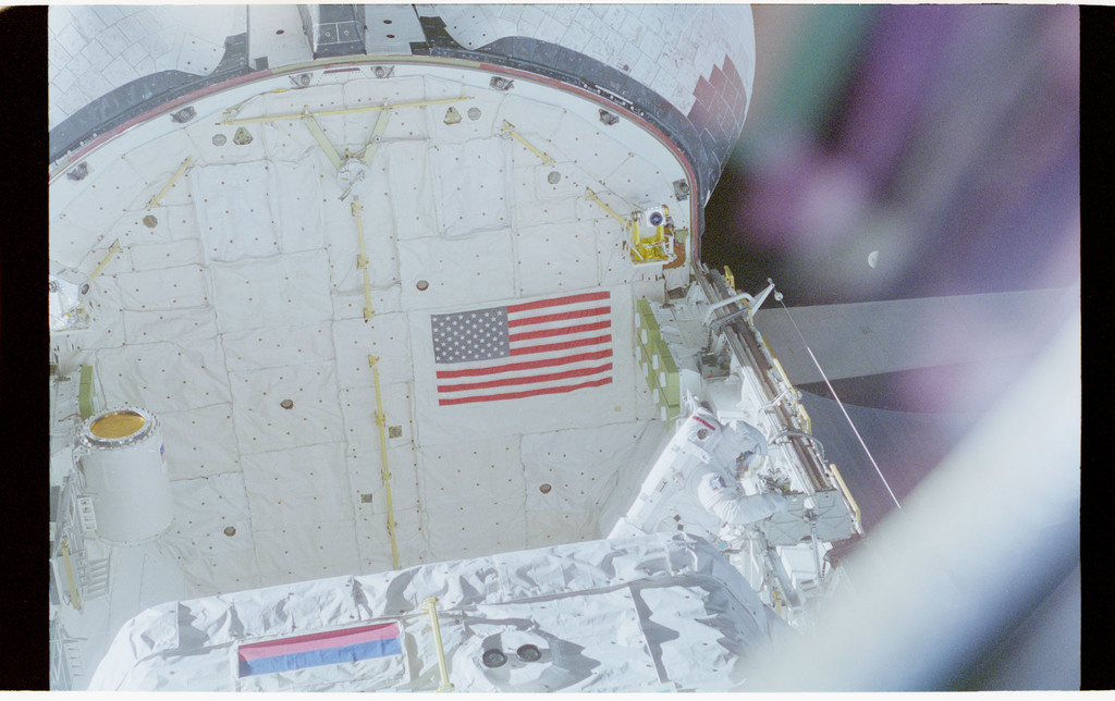 STS076-462-007 - STS-076 - View of the shuttle payload bay during EVA