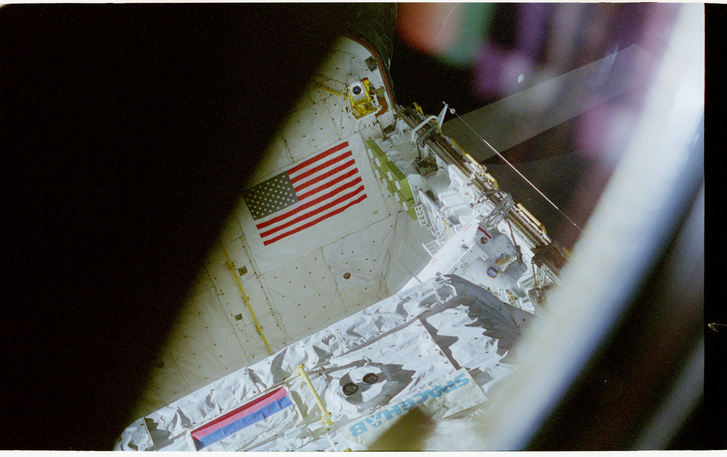 STS076-462-011 - STS-076 - View of the shuttle payload bay during EVA