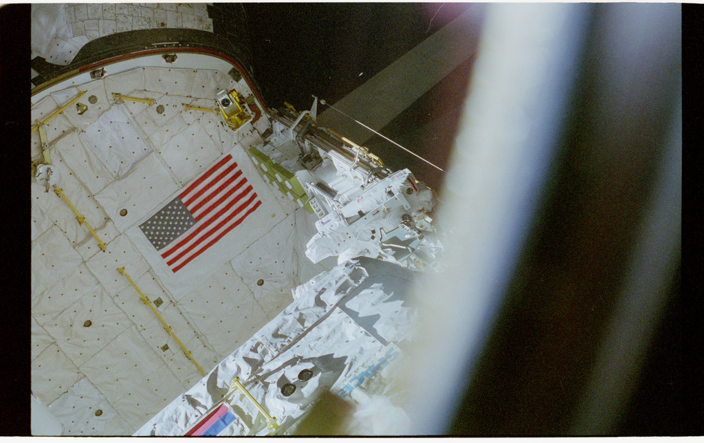 STS076-462-017 - STS-076 - View of the shuttle payload bay during EVA