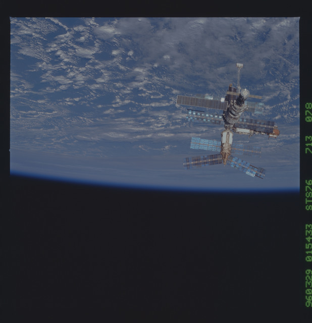STS076-713-078 - STS-076 - Mir Space Station views after undocking and flyaround by shuttle Atlantis