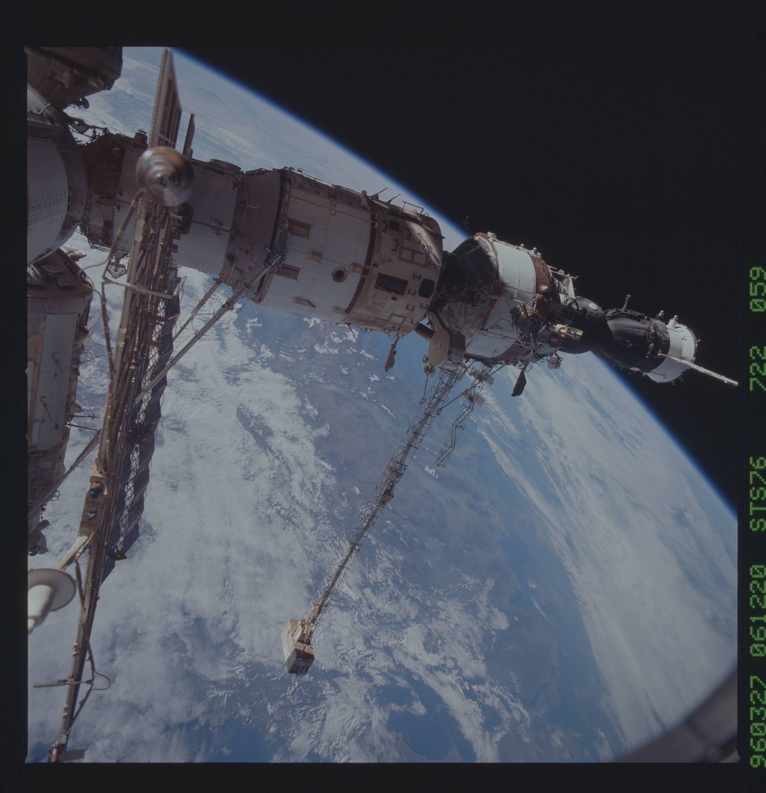 STS076-722-059 - STS-076 - Mir Space Station views taken during STS-76 mission