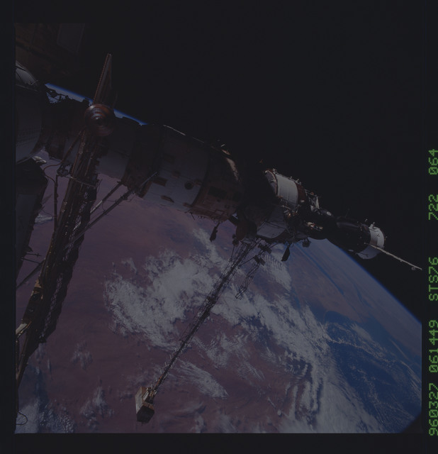 STS076-722-064 - STS-076 - Mir Space Station views taken during STS-76 mission