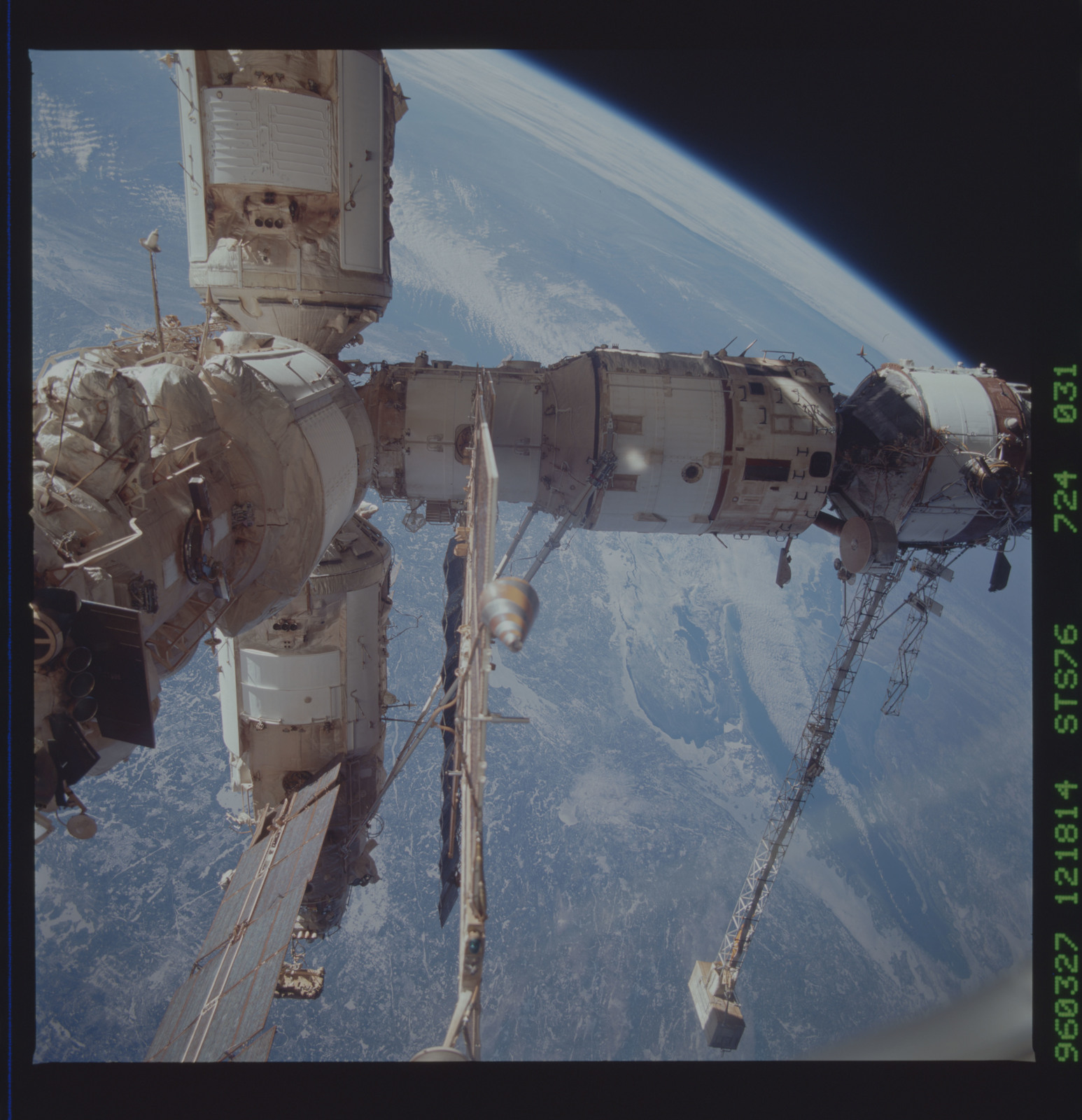 STS076-724-031 - STS-076 - Mir Space Station views taken during STS-76 mission