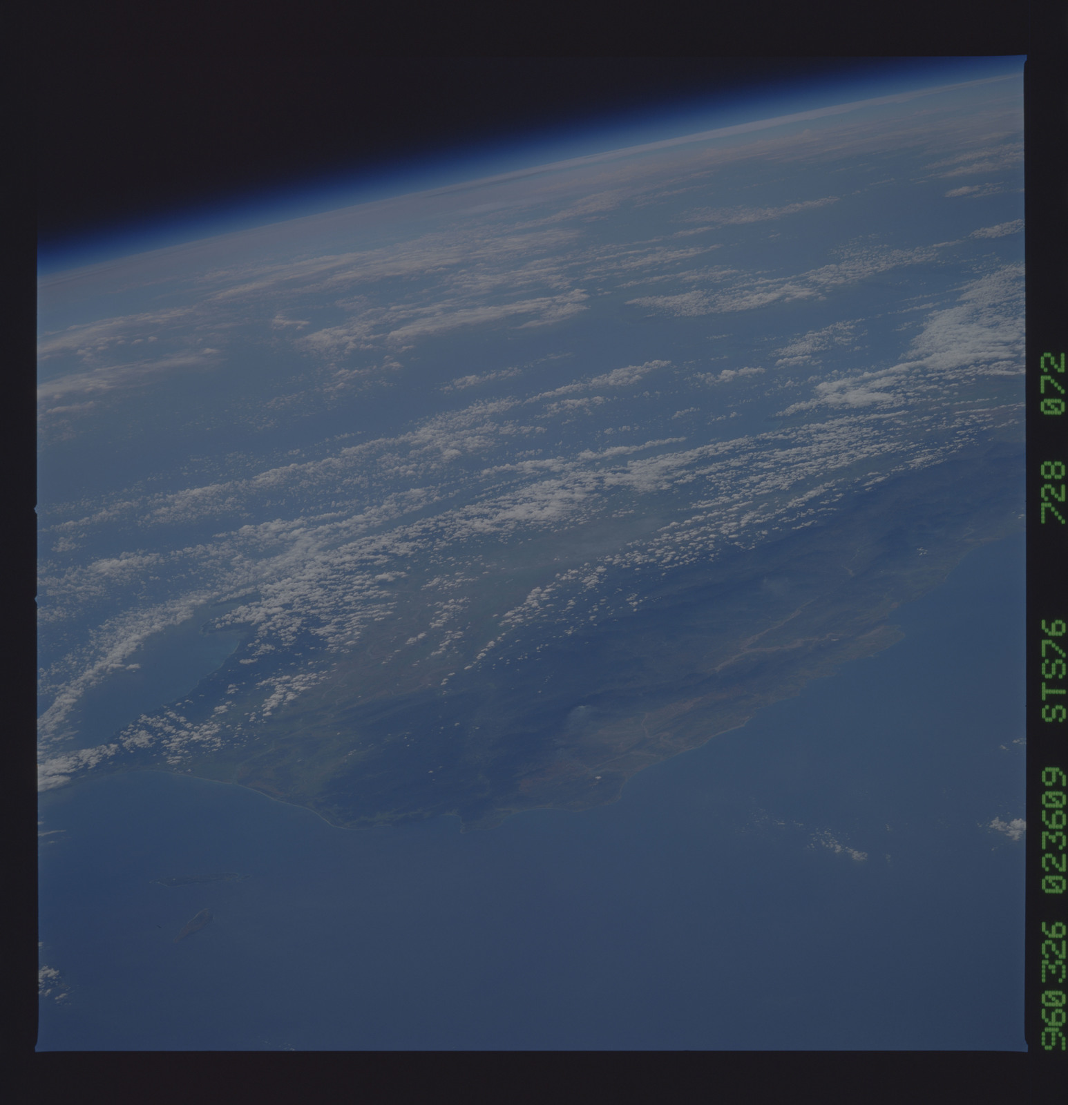 STS076-728-072 - STS-076 - Earth observations taken from shuttle orbiter Atlantis during STS-76 mission