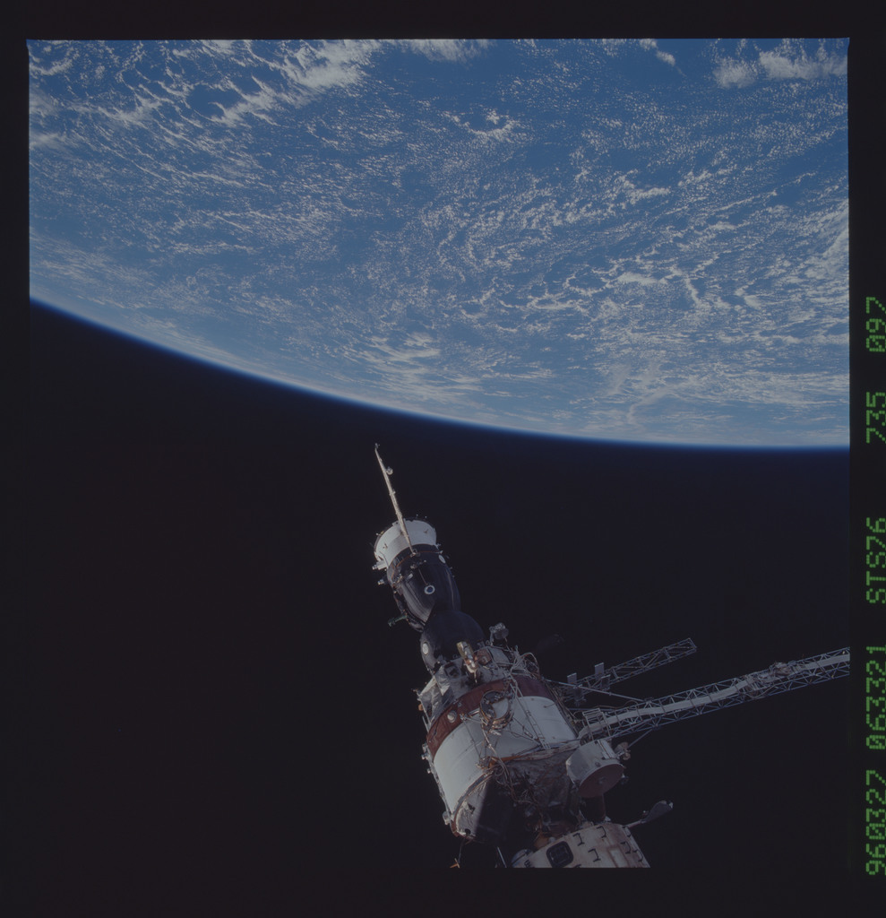 STS076-735-097 - STS-076 - Mir Space Station views taken during STS-76 mission