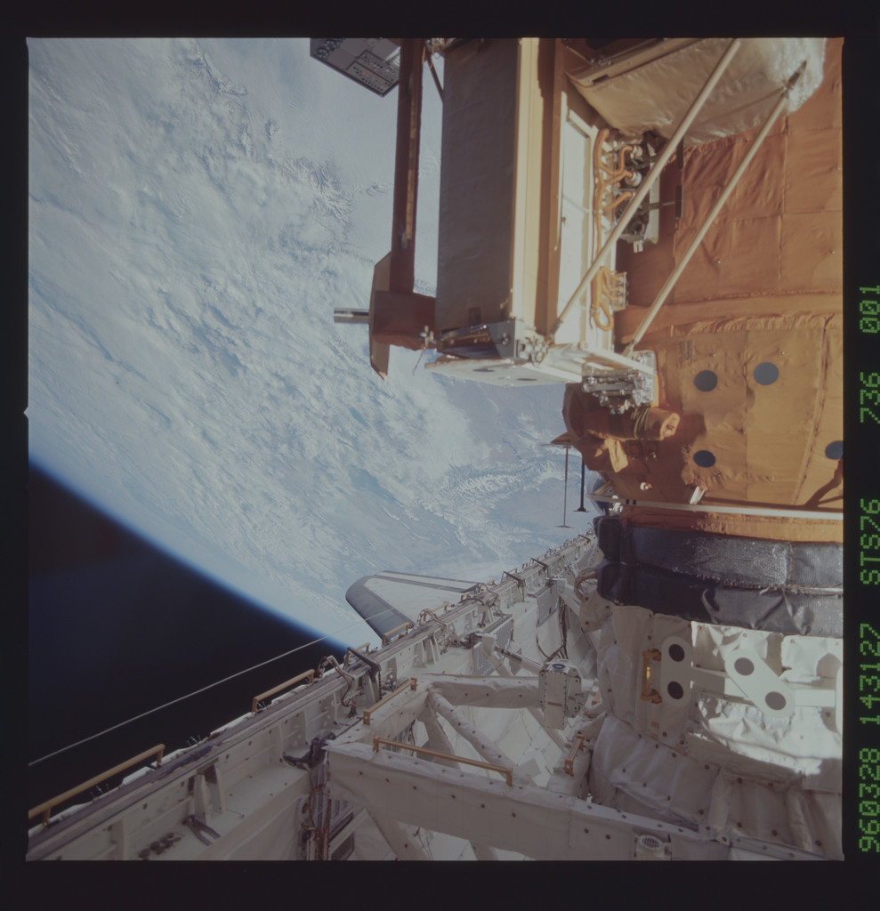 STS076-736-001 - STS-076 - Mir Space Station views taken during STS-76 mission