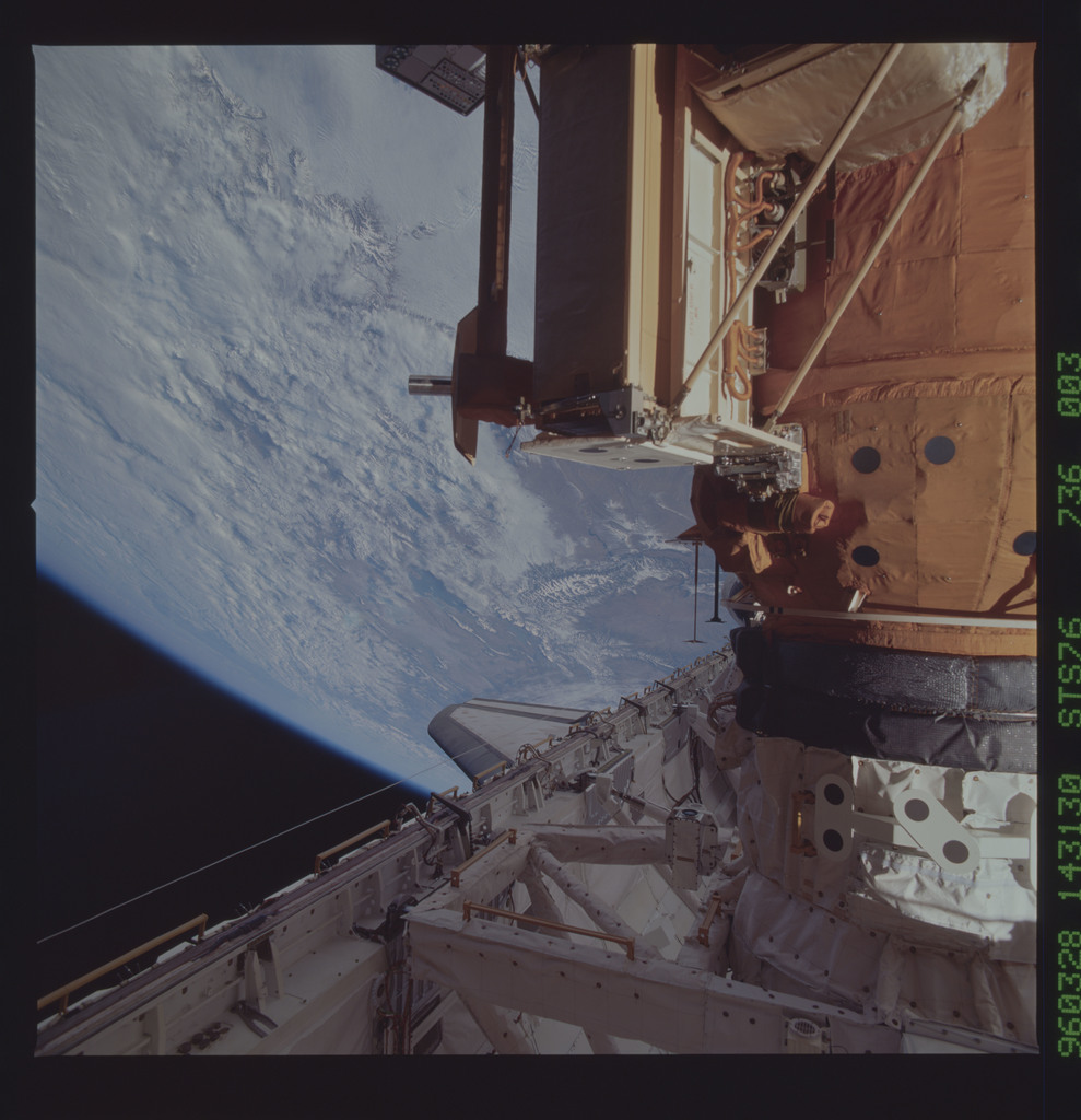 STS076-736-003 - STS-076 - Mir Space Station views taken during STS-76 mission