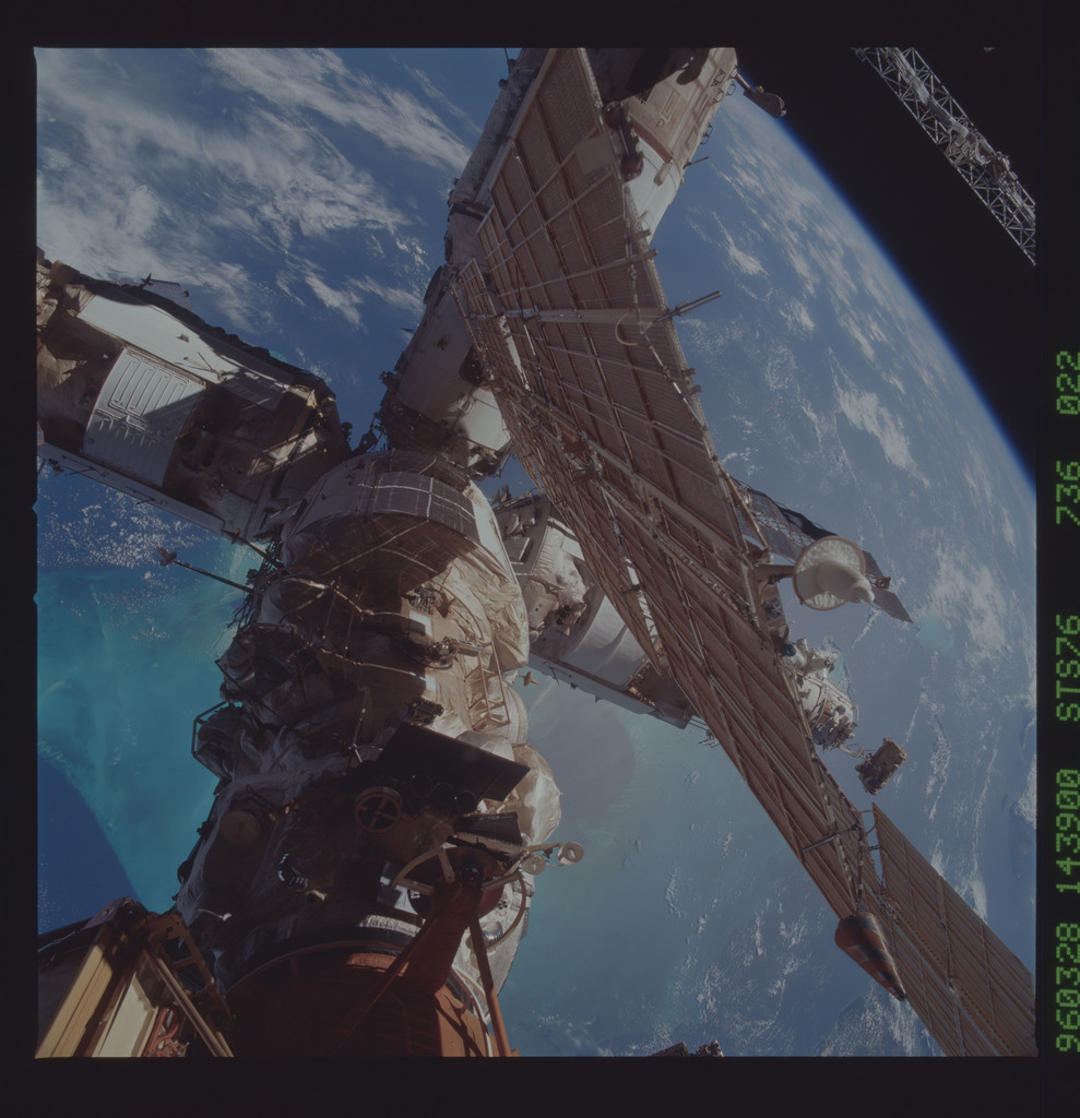STS076-736-022 - STS-076 - Mir Space Station views taken during STS-76 mission