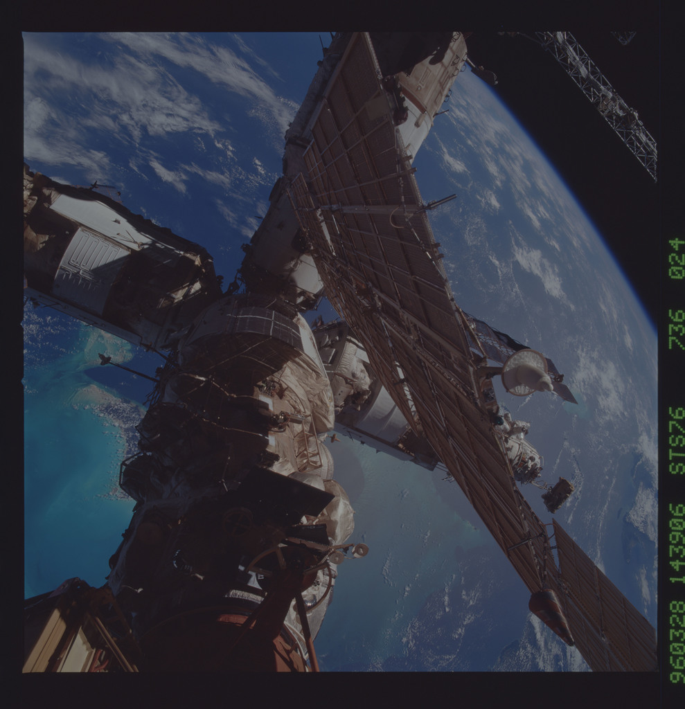 STS076-736-024 - STS-076 - Mir Space Station views taken during STS-76 mission