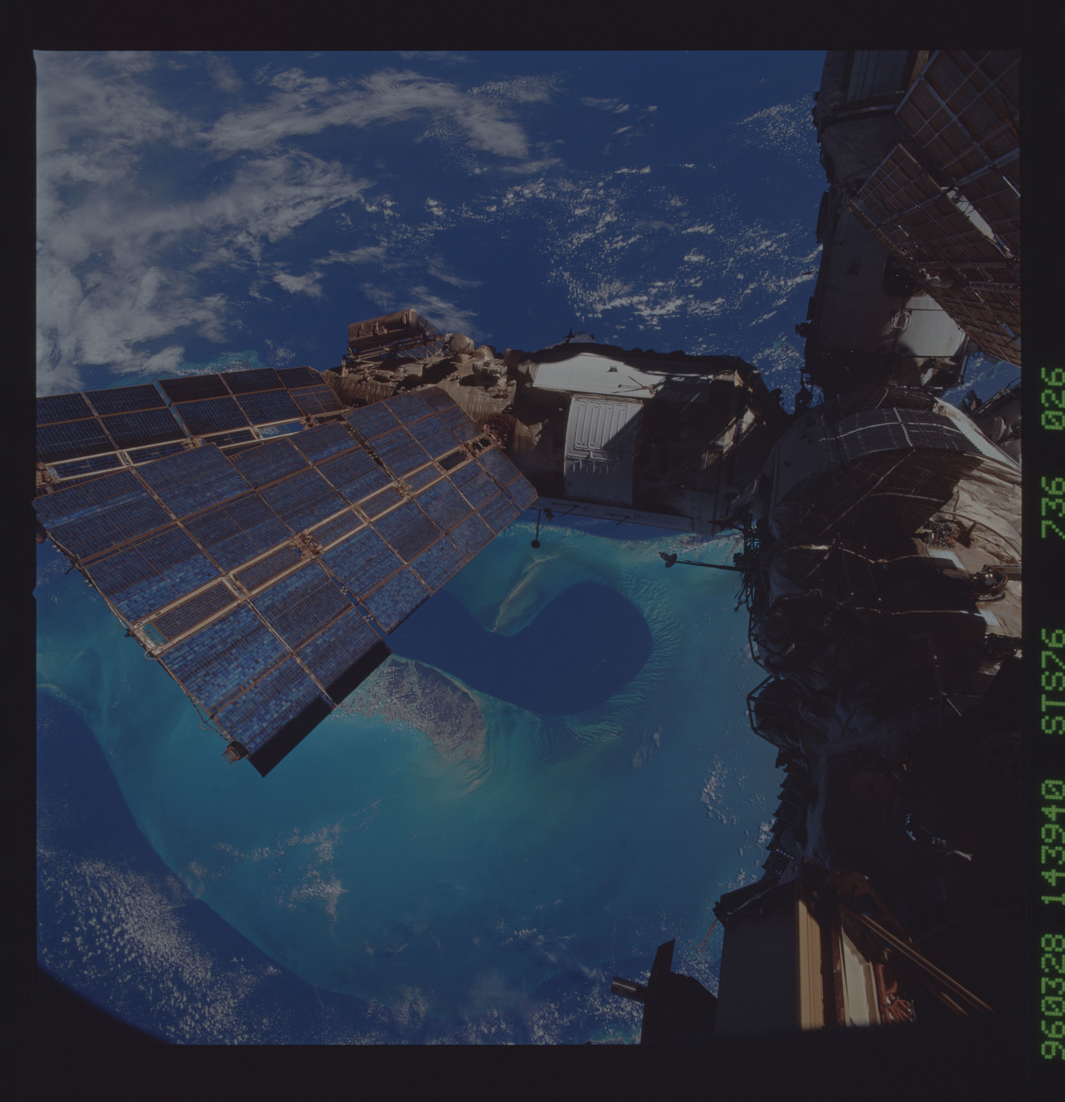 STS076-736-026 - STS-076 - Mir Space Station views taken during STS-76 mission