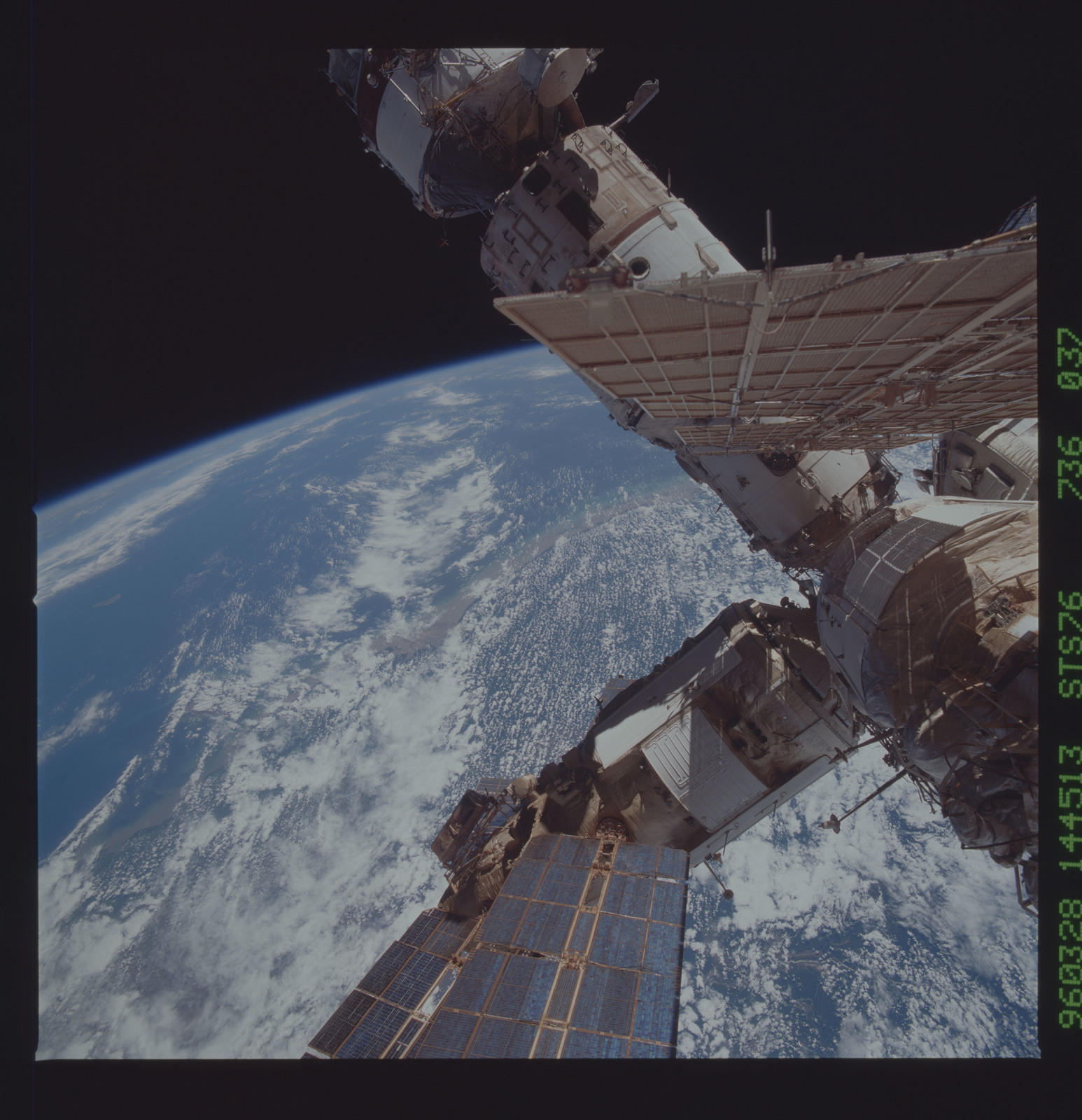 STS076-736-037 - STS-076 - Mir Space Station views taken during STS-76 mission