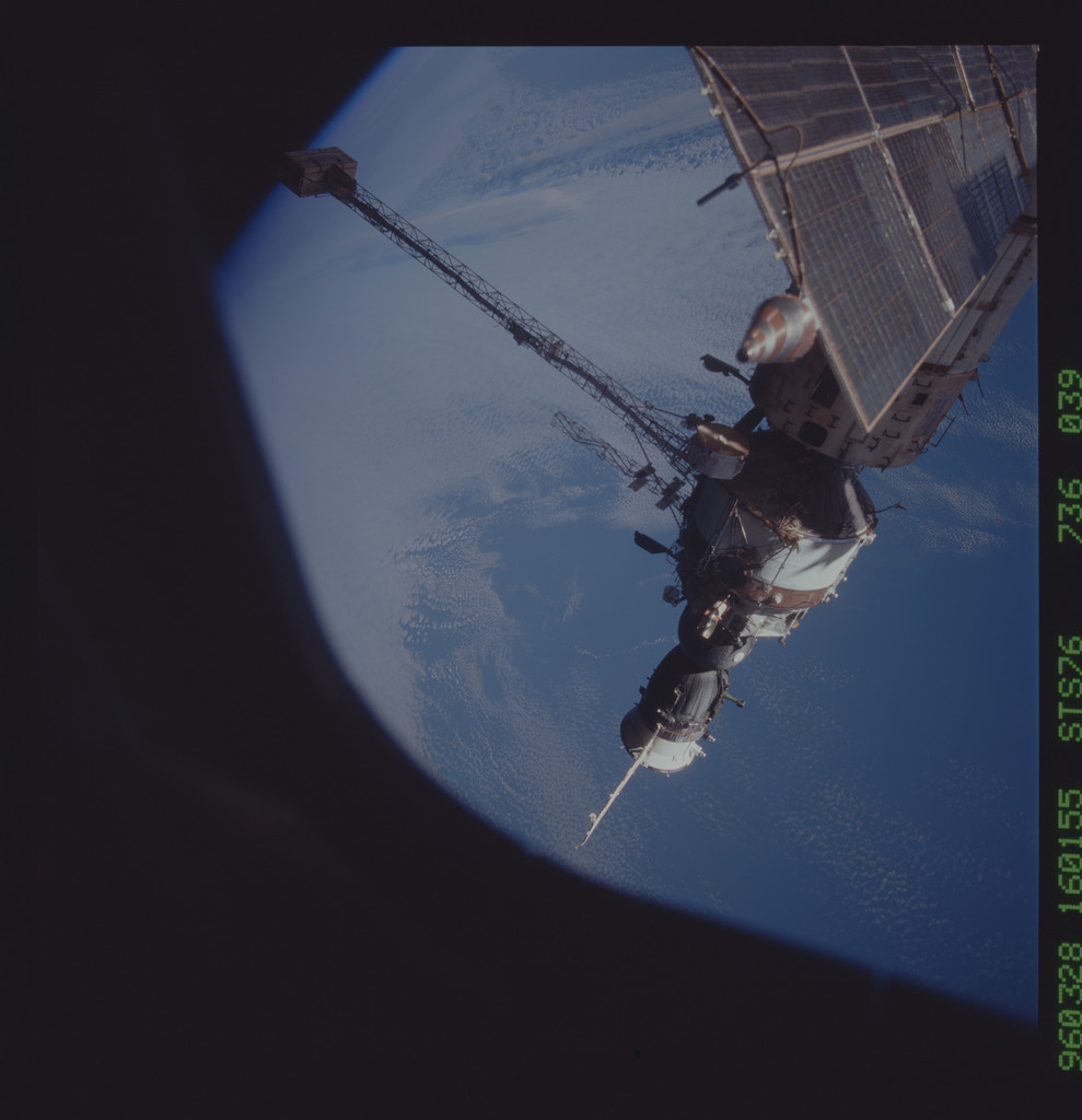 STS076-736-039 - STS-076 - Mir Space Station views taken during STS-76 mission