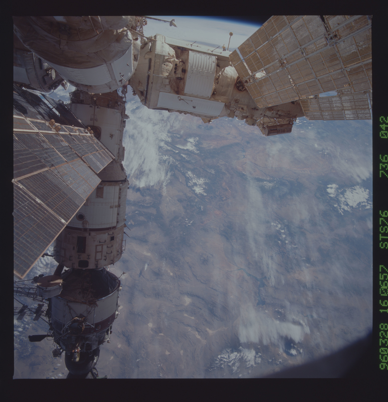 STS076-736-042 - STS-076 - Mir Space Station views taken during STS-76 mission
