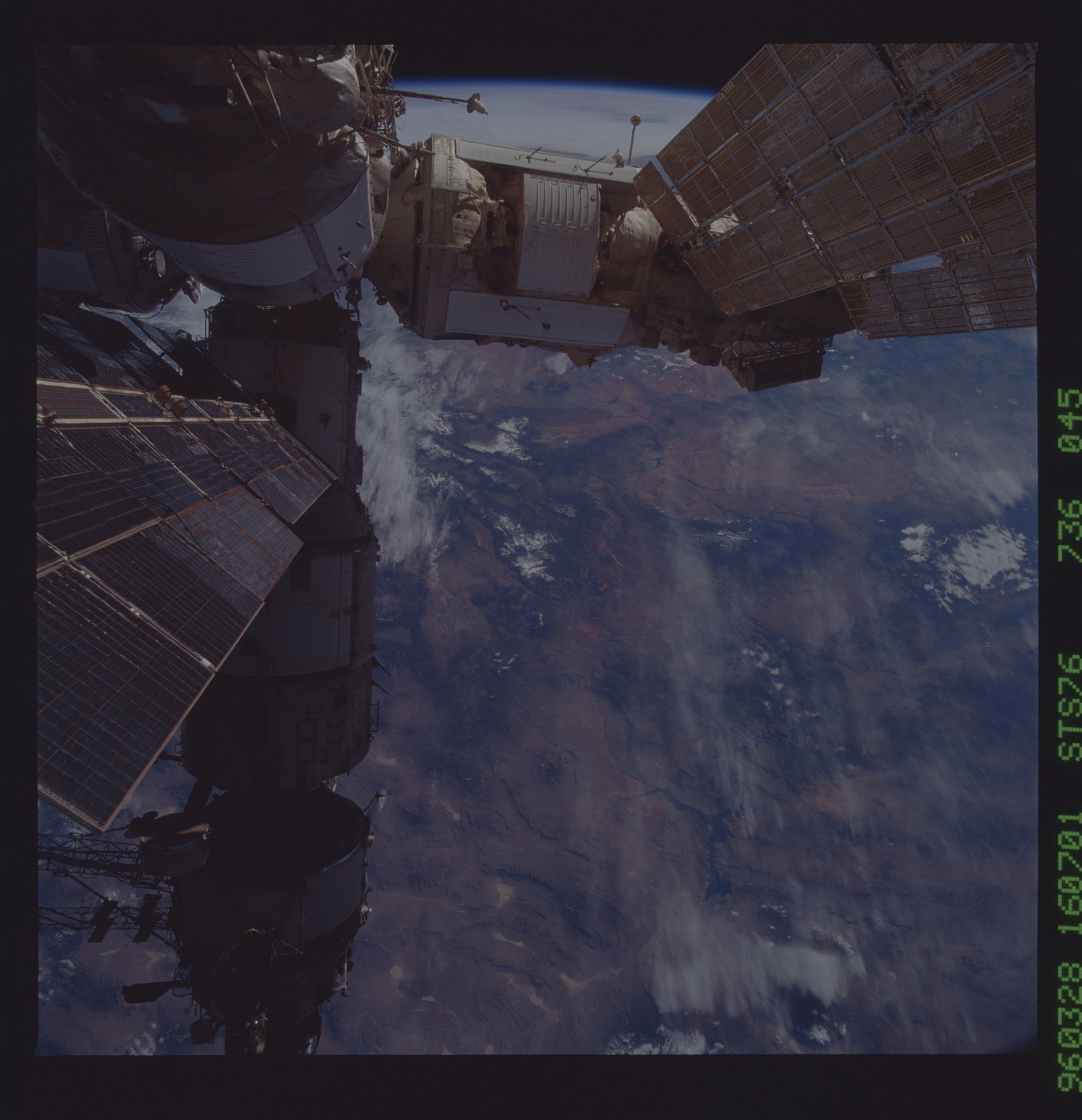 STS076-736-045 - STS-076 - Mir Space Station views taken during STS-76 mission