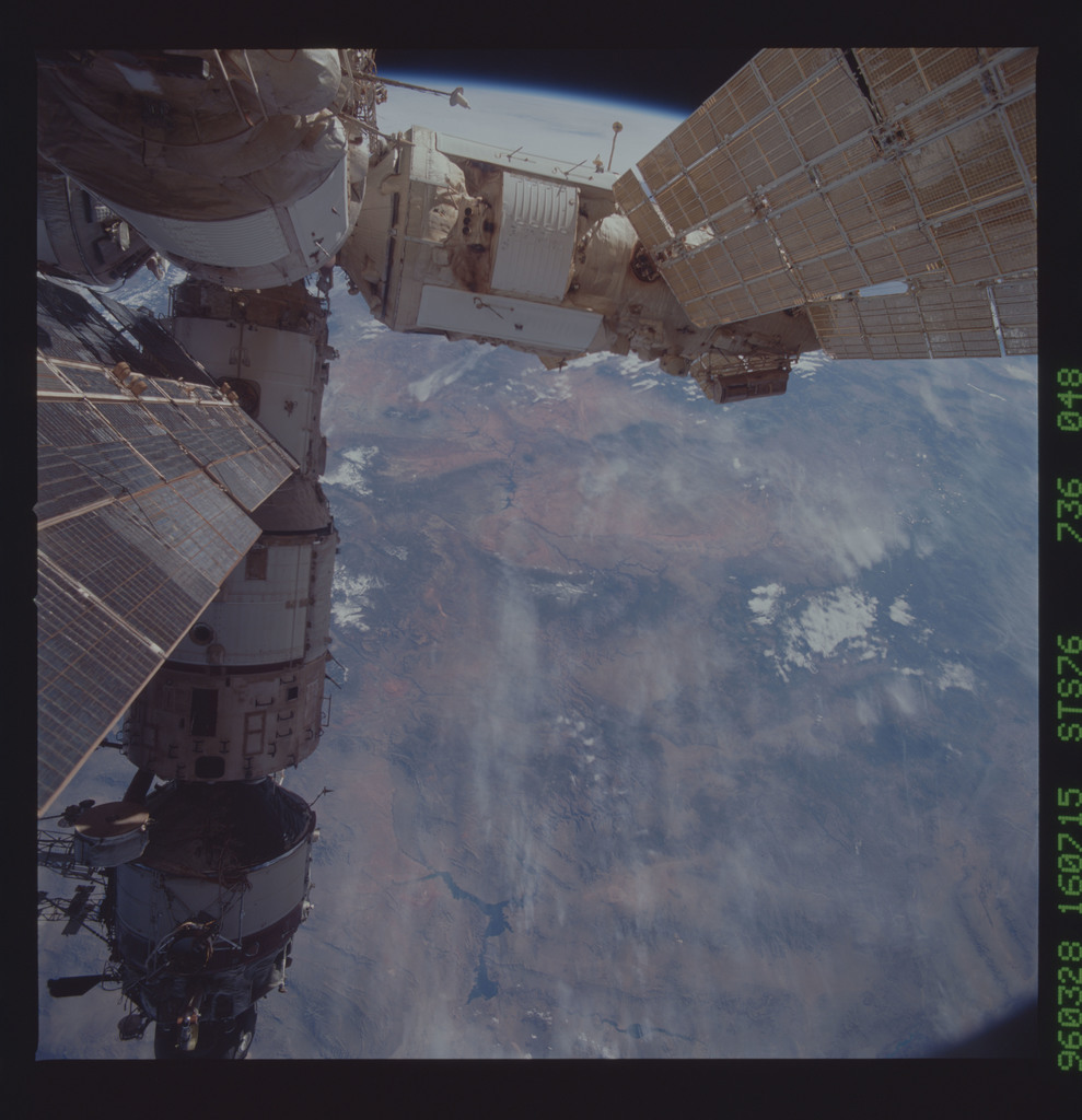 STS076-736-048 - STS-076 - Mir Space Station views taken during STS-76 mission